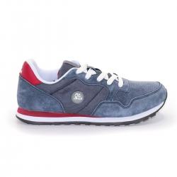 Кроссовки женские ST173112, синие с красными вставками